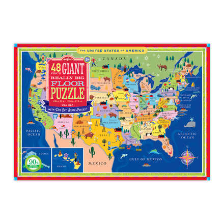 USA Map Giant Really Big Floor Puzzle picture