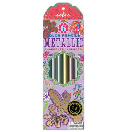 Gold Birds Metallic Pencils picture