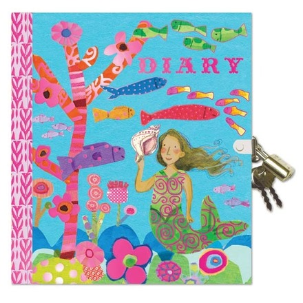 Mermaid Locked Diary picture