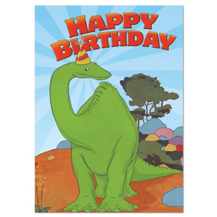 Gertie Dinosaur in Hat Birthday Card picture