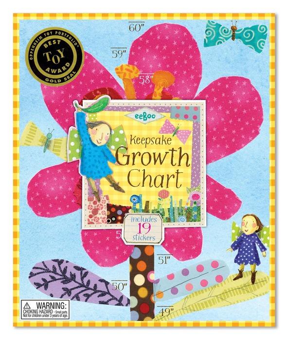 Hot Pink Flower Growth Chart Eeboo
