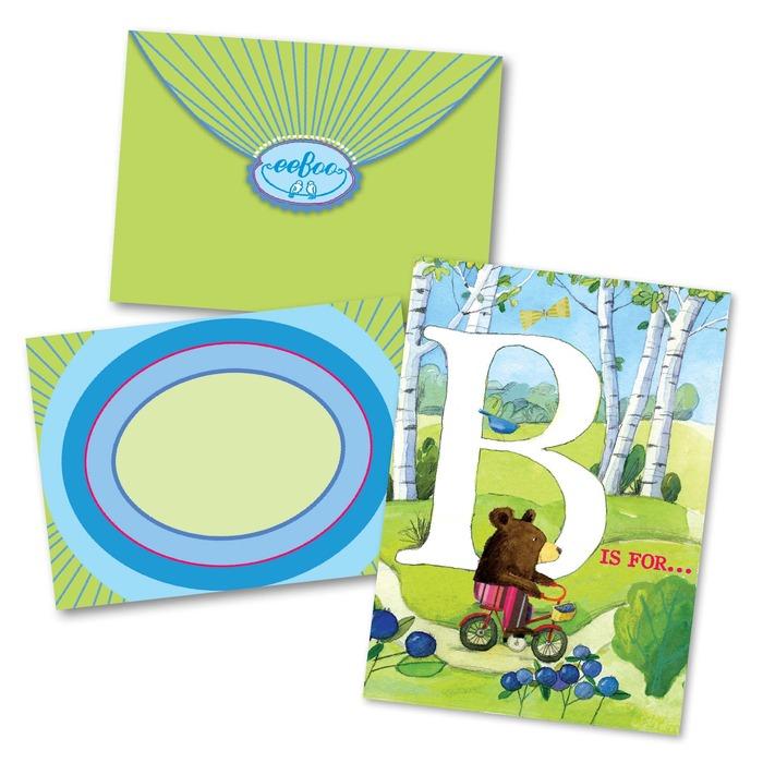 B Is For Birthday Card Eeboo