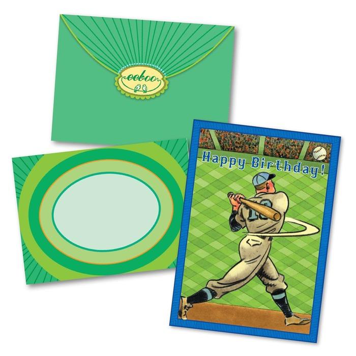 Baseball Home Run Birthday Card Eeboo