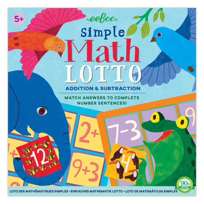 Simple Math Lotto | eeBoo