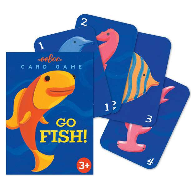 Go fish playing cards eeboo for How do you play go fish card game