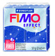 FIMO effect  modelling clay, blue (glitter), box of 6