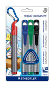 triplus permanent 4pk assorted- Chisel