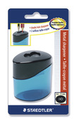 STAEDTLER double-hole tub sharpener oval, blistercard