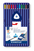ergosoft® aquarell triangular watercolour pencil, set of 12