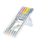 triplus fineliner, set of 6 Pastel Colors