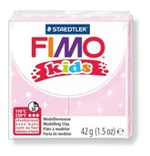 Fimo kids modelling clay, pearl rosa, box of 8