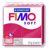 FIMO soft modelling clay, cherry red, box of 6