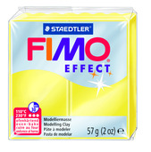 FIMO effect  modelling clay, yellow transparent, box of 6
