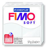 FIMO soft modelling clay, white, box of 6