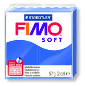 FIMO soft modelling clay, brilliant blue, box of 6