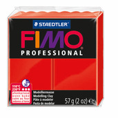 FIMO professional modelling clay, red, box of 6