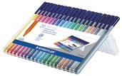triplus color triangular fibre-tip pen, set of 20
