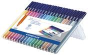 triplus color triangular fibre-tip pen, set of 20