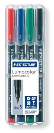 Lumocolor permanent universal pen, Supr-Fine set of 4 picture