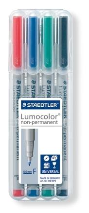Lumocolor non-permanent universal pen, Fine set of 4 picture