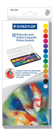 Water color pans, 12pc picture