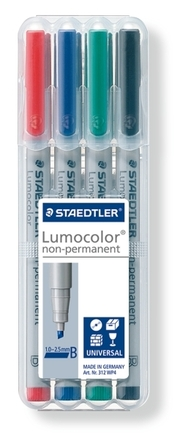 Lumocolor non-permanent universal pen, Broad set of 4 picture