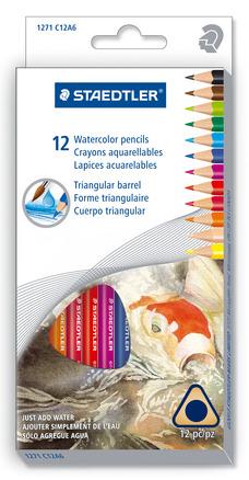 Watercolored pencils 12pk picture