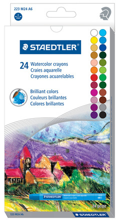 Watercolor crayon  24pc picture