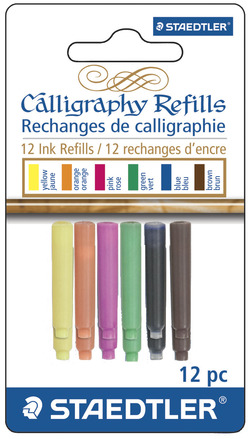 STAEDTLER calligraphy refill assorted, 12pk picture