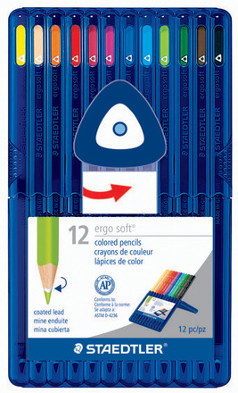 Col. pencil ergo soft 12ct FSC 100% picture