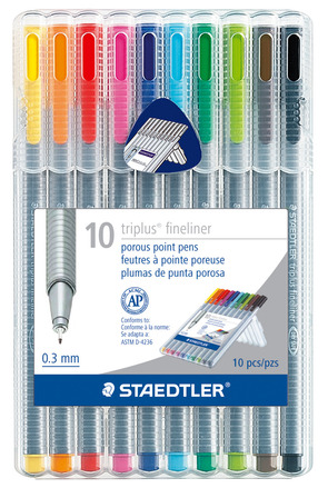 triplus fineliner, set of 10 picture