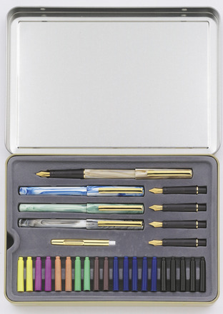 STAEDTLER calligraphy set of 5 in tin picture