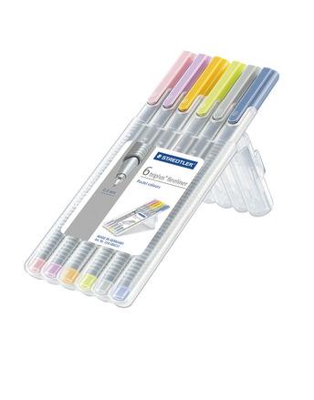 triplus fineliner, set of 6 Pastel Colors picture