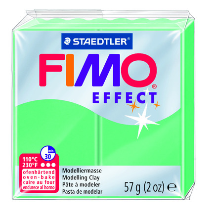 FIMO effect  modelling clay, jade green, box of 6 picture