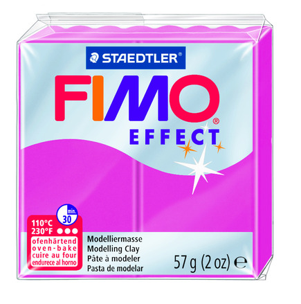 FIMO effect  modelling clay, ruby quartz, box of 6 picture