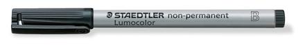 Lumocolor non-permanent universal pen, Broad Black, box of 10 picture