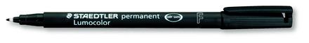 Lumocolor permanent universal pen, Fine black, Box of 10 with bonus refill station picture