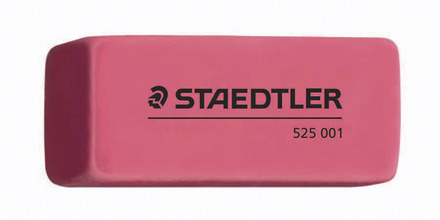 STAEDTLER PVC/Latex free pink beveled eraser, box of 24 picture
