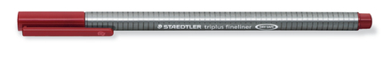triplus fineliner  0.3mm Carmine, box of 10 picture