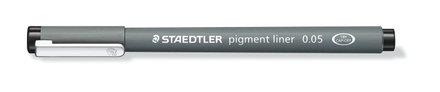 STAEDTLER pigment liner fineliner 0.05mm black, box of 10