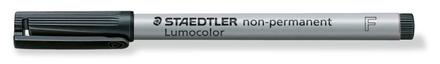 Lumocolor non-permanent universal pen, Fine Black, box of 10 picture