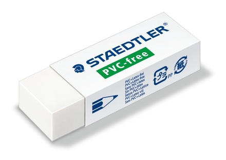 STAEDTLER PVC/Latex free eraser, box of 20 picture