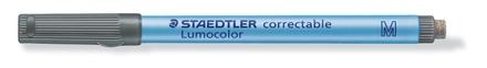 Lumocolor correctable 305 Non-permanent dry erase pen, M Black (box of 10) picture