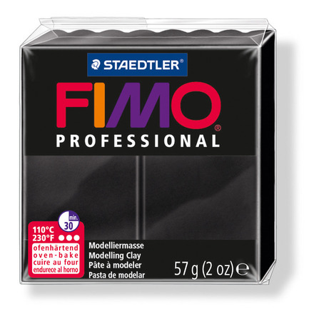 FIMO professional modelling clay, black, box of 6 picture