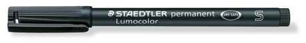 Lumocolor permanent universal pen, Supr-Fine Black, box of 10 picture