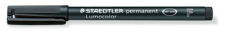 Lumocolor permanent universal pen, Fine Black, box of 10 picture