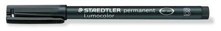 Lumocolor permanent universal pen, Broad Black, box of 10 picture
