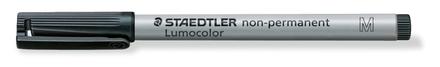 Lumocolor non-permanent universal pen, Medium Black, box of 10 picture