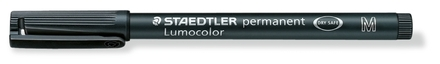 Lumocolor permanent universal pen, Medium Black, box of 10