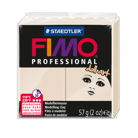 FIMO professional doll art modelling clay, beige, box of 6 picture